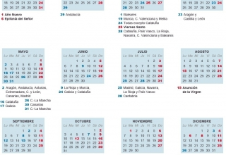 Calendario laboral 2016: obligatorio y a la vista